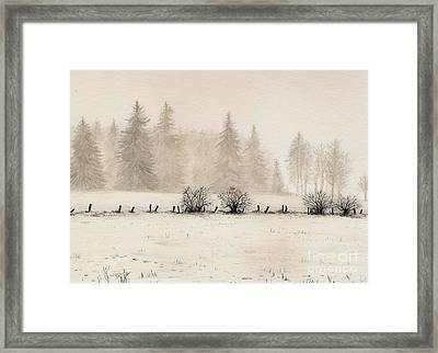 Winter Framed Print by Dirk Dzimirsky