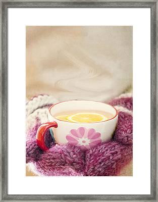 Winter Drink Framed Print by Juli Scalzi