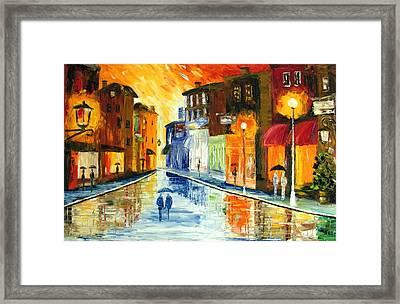 Winter Evening Framed Print by Mariana Stauffer
