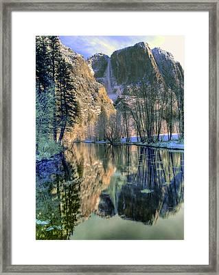 Winter Falls Framed Print by Bill Gallagher