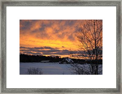 Winter Fire Framed Print by Jim Brage