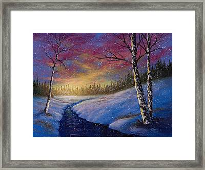 Winter Flurries Framed Print by C Steele