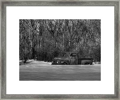 Winter Ford Truck 1 Framed Print by Thomas Young