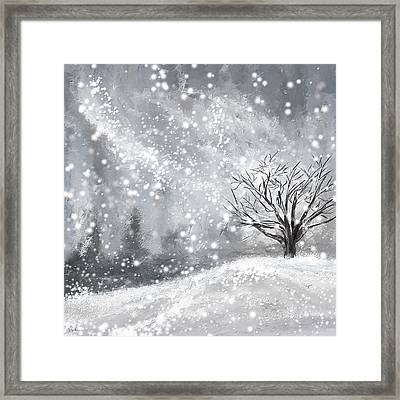Winter- Four Seasons Painting Framed Print by Lourry Legarde