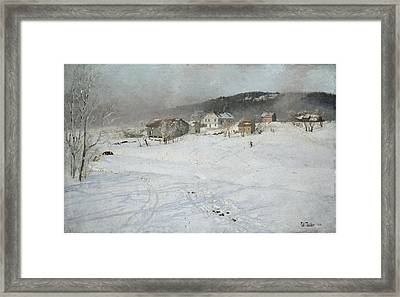 Winter Framed Print by Frits Thaulow