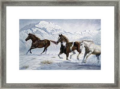 Winter Frolic Framed Print by Gregory Perillo