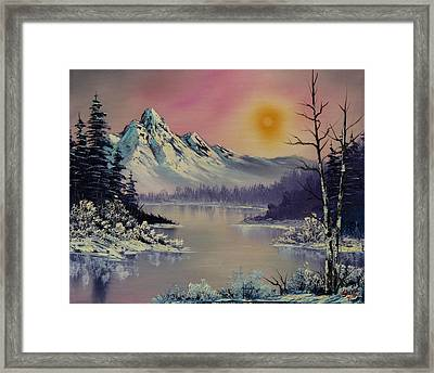 Morning Frost Framed Print by C Steele