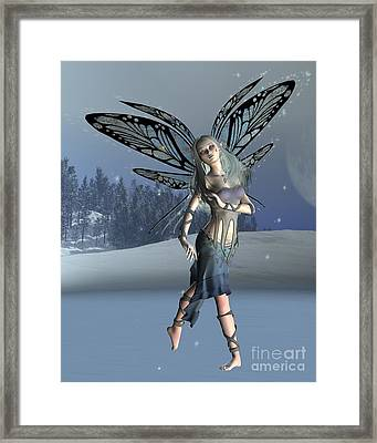 Winter Frost Fairy Framed Print by Fairy Fantasies