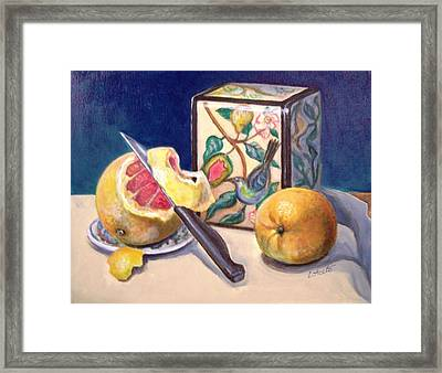 Winter Fruit Framed Print by Laura Aceto