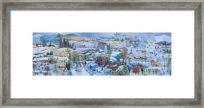 Winter Fun - Sold Framed Print by Judith Espinoza