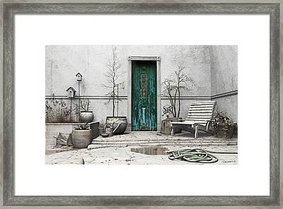 Winter Garden Framed Print by Cynthia Decker