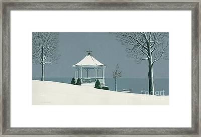 Winter Gazebo Framed Print by Michael Swanson