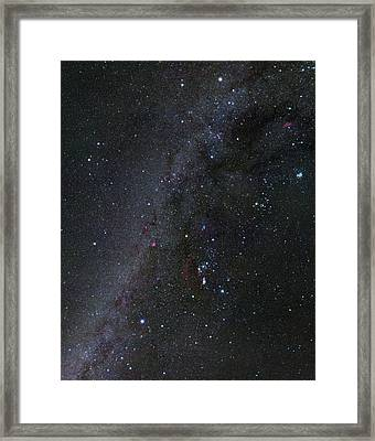 Winter Hexagon Asterism Framed Print by Eckhard Slawik