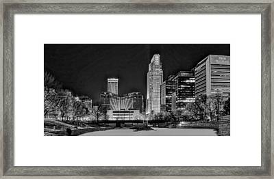 Winter Holidays In Omaha Framed Print by Nikolyn McDonald