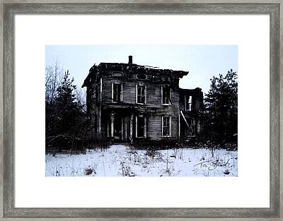 Winter Home Framed Print by Tom Straub