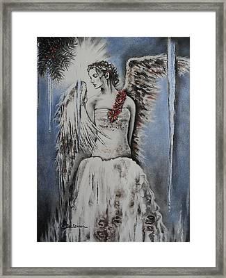 Winter Ice Angel Framed Print by Carla Carson