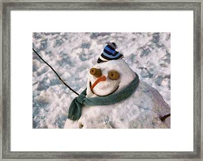 Winter - I'm Ready For My Closeup Framed Print by Mike Savad