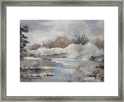 Winter Impressions Framed Print by Suzanne Schaefer