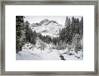 Winter In Baergunt Valley Kleinwalsertal Austria Framed Print by Matthias Hauser