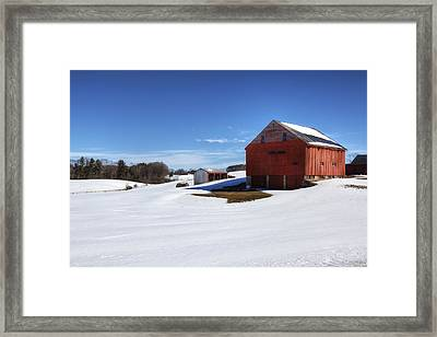 Winter In Dover Framed Print by Eric Gendron