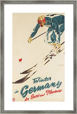 Winter In Germany Framed Print by H Plessen