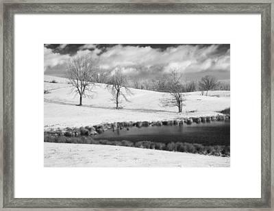 Winter In Kentucky Framed Print by Wendell Thompson