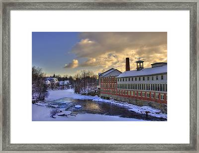 Winter In Milford New Hampshire Framed Print by Joann Vitali
