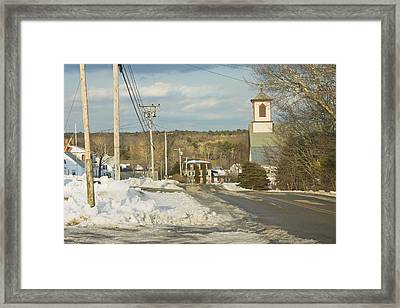 Winter In Round Pond Maine Framed Print by Keith Webber Jr