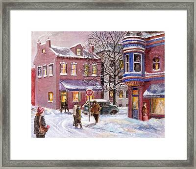 Winter In Soulard Framed Print by Edward Farber