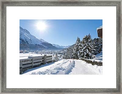 Winter In St. Moritz  Framed Print by Design Windmill