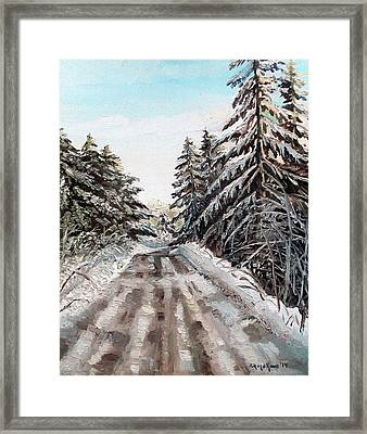 Winter In The Boons Framed Print by Shana Rowe Jackson