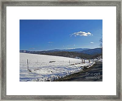 Winter In The Foothills Framed Print by Skip Willits