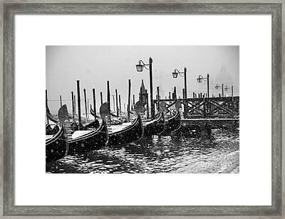 Winter In Venice Framed Print by Yuri Santin