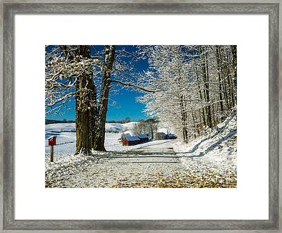Winter In Vermont Framed Print by Edward Fielding