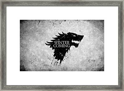 Winter Is Coming Framed Print by Florian Rodarte