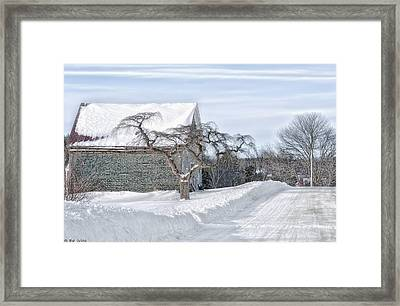 Winter Is Our Guest Framed Print by Richard Bean