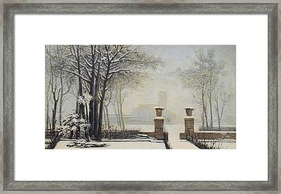 Winter Landscape Framed Print by Alessandro Guardassoni