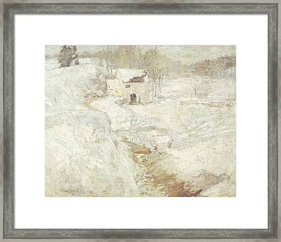 Winter Landscape Framed Print by John Henry Twachtman