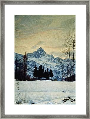 Winter Landscape Framed Print by Matteo Olivero