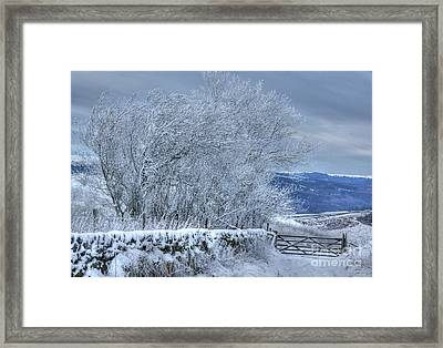 Winter Landscape Near Buxton Framed Print by David Birchall