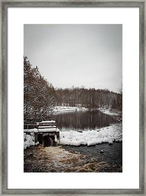 Winter Landscape Framed Print by Robert Hellstrom