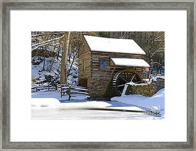 Winter Mill Framed Print by Paul Ward