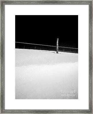 Winter Minimalism Black And White Framed Print by Edward Fielding