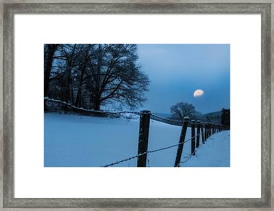 Winter Moon Framed Print by Bill Wakeley
