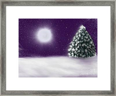 Winter Moon Framed Print by Roxy Riou