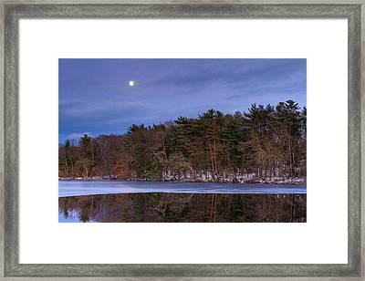 Winter Moonrise Framed Print by Bryan Bzdula