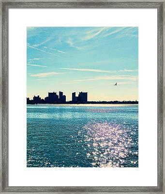 Winter Morning Gravesend Bay Framed Print by Jon Woodhams