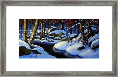 Winter Morning Light Framed Print by Frank Wilson