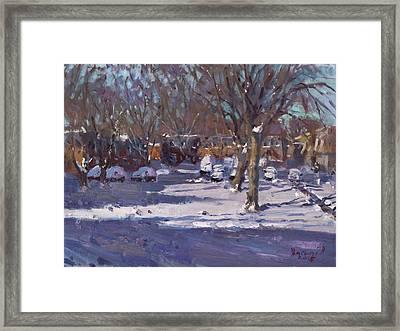 Winter Morning Framed Print by Ylli Haruni