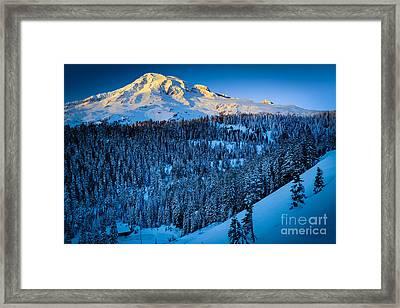 Winter Mountain Framed Print by Inge Johnsson